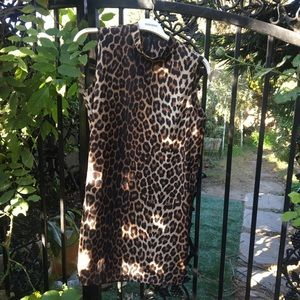 ASOS Mock Neck Leopard Mini in Size US 8